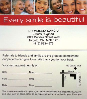 Every smile is beautiful | Referral slips